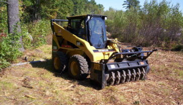 Brown Brontosaurus Skid Steer Mulcher